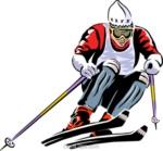 Schifahrer-Grafik